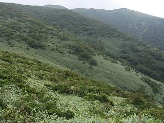 大峠付近から三本槍岳方面