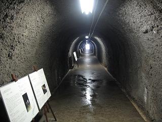 捕獲場所へのトンネル