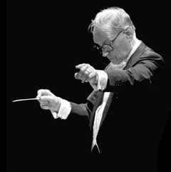 Ennio Morricone - conducting on stage