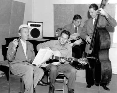 bing crosby with the les paul trio