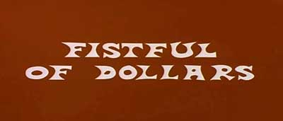 Fistful of Dollars opening title capture