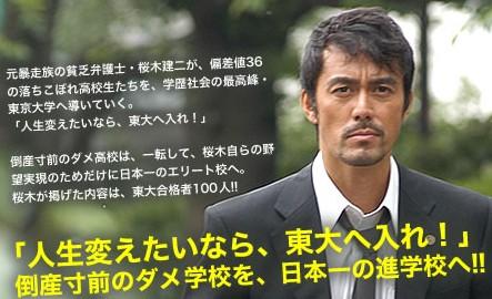 阿部寛主演『ドラゴン桜』