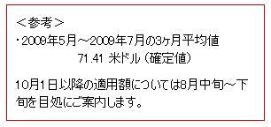 2009年5月~2009年7月の3ヶ月平均値