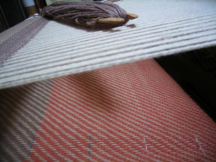 織りかけブランケット