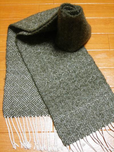 ドミノ織り?マフラー