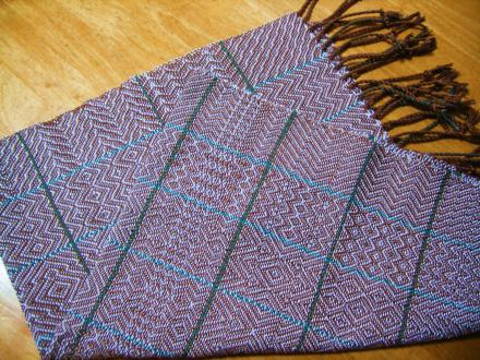 6枚綜絖の変化綾織りのサンプラー
