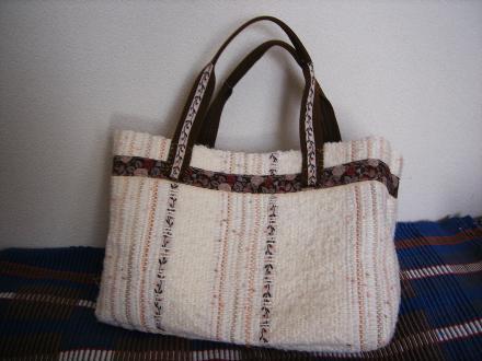 Mさんの裂き織りバッグ