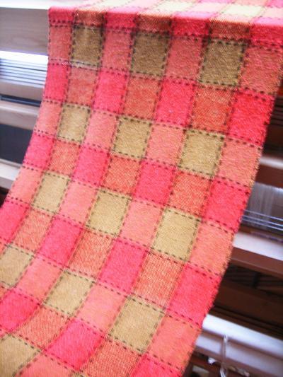 刺し子織り完成!