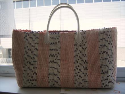 Bちゃんの裂き織りバッグ
