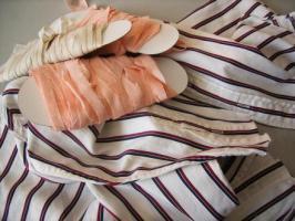 裂き織りの素材たち