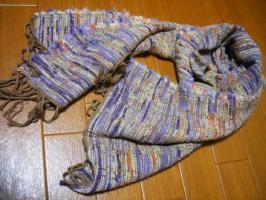 裂き織りのマフラー