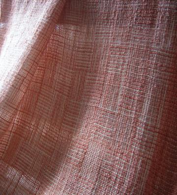 やわらかシルクの網代織りのショール