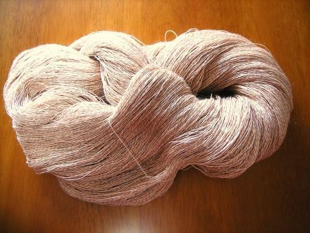 シルクラミー…絹の部分しか染まってない…