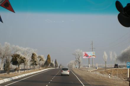 ウズベキスタンの車窓から