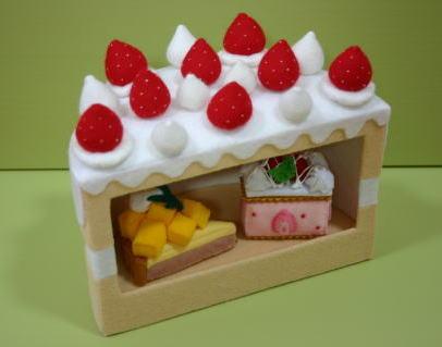 ケーキの棚
