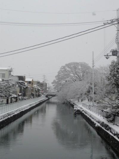 京都、雪景色