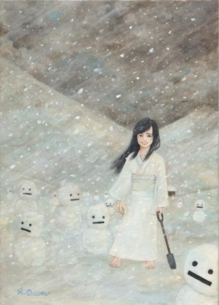 雪女(アクリル画)