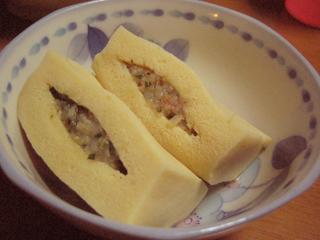 高野豆腐のエビ詰め