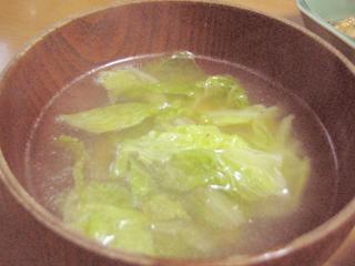白菜の外葉スープ