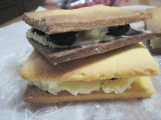 クリームチーズのレーズンサンド
