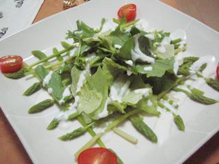 西洋アスパラのサラダ