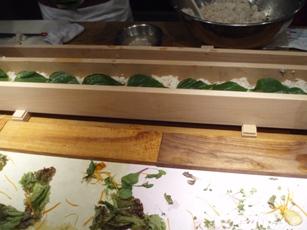 グラフ押し寿司