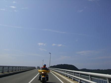 角島大橋走行中?