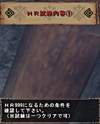 HR999試練
