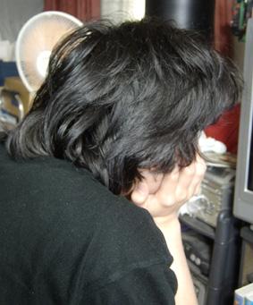 4ヶ月髪伸ばし放題で帰省のコテツ