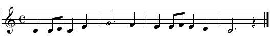 旋律聴音(問題2)