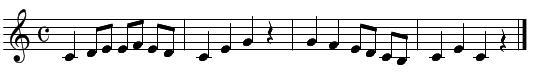 旋律聴音(問題1)