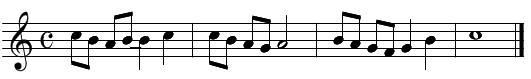 旋律聴音(問題5)