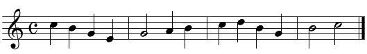 旋律聴音(問題6)