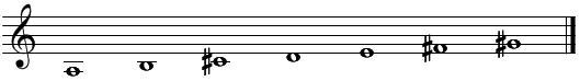 音階とコード(1)イ長調