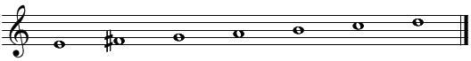 音階とコード(2)ホ短調