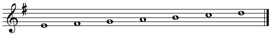 音階とコード(2)ホ短調・調号