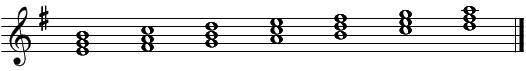 音階とコード(2)ホ短調・和音