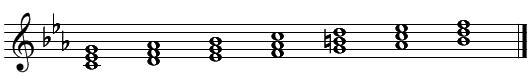 和声・コード進行(メロディーにコードをつける)短調2