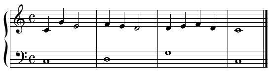 二声聴音(例題1)