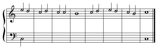 ソプラノ課題・例題1(手順1)