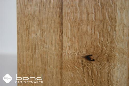 無垢の国産材で作った楢のキャビネット 節あり 京都の家具屋 キャビネットメーカーボンド