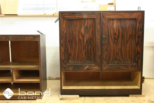 古い家具修理 面材は全て高級材の黒檀を使用