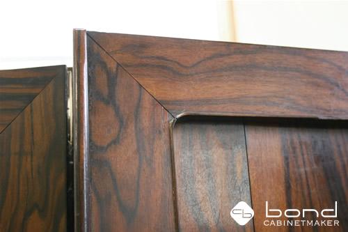 古い家具の修理 面材は高級材の黒檀