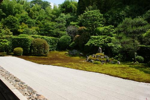 雪舟庭園(鶴亀の庭)