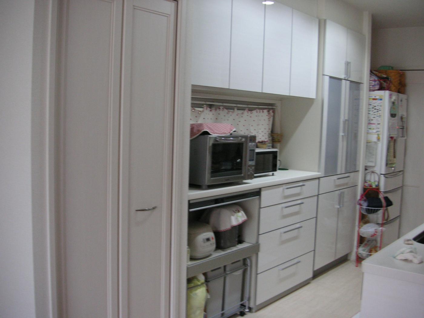 キッチン キッチンボード 収納 : my home by XevoE:kitchen収納~蒸気 ...