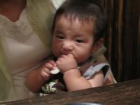 お夕飯の赤ちゃんせんべい①