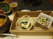 ごま豆腐・トマト茶碗蒸し・ささみ梅肉和え
