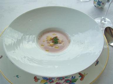 赤かぶを使ったクリームスープ