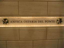 ANTICA OSTERIA DEL PONTE
