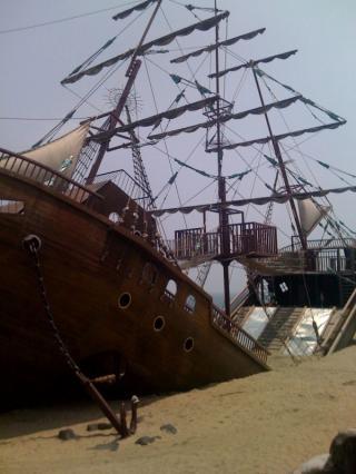 広野海浜公園難破船
